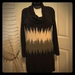 Light weight, cowel neck sweater dress.